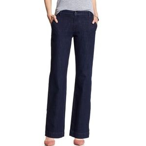 Banana Republic Dark Wash Denim Trouser Jean